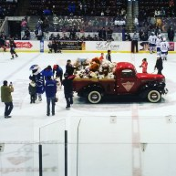 The annual Teddy Bear Toss took place at the Hershey Centre Sunday. After the Steelheads' first goal, all bears tossed onto the ice were donated to the Boys and Girls Club of Peel Region. (Photo: Kelly Roche/QEW South Post)