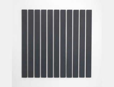 Alan Charlton, 11 Vertical Parts, 1984, oil on canvas, 243 x 243 cm (in 11 parts)