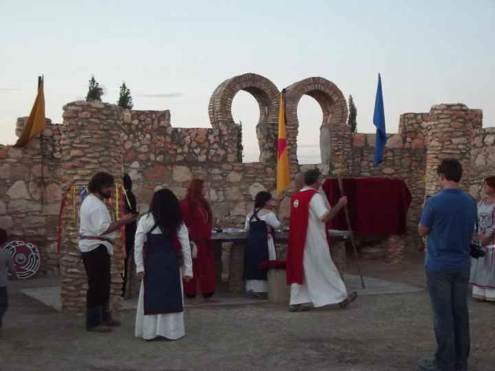 Cerimonia dell' odinismo nel tempio di Gaut