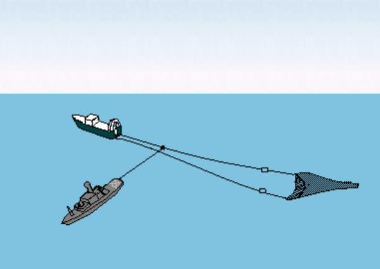 Come la Guardia Costiera islandese taglia le reti a strascico