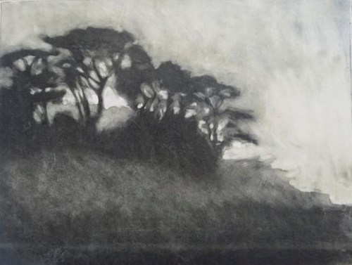 Anne Spudvilas_Evening - on the road ll monoprint