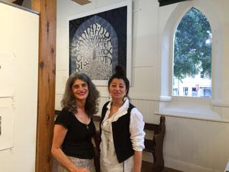 Literary festival exhibition opening - Angela Cavalieri and Soula