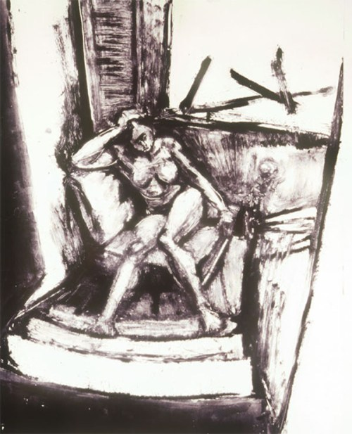 Figure in Stairwell 14