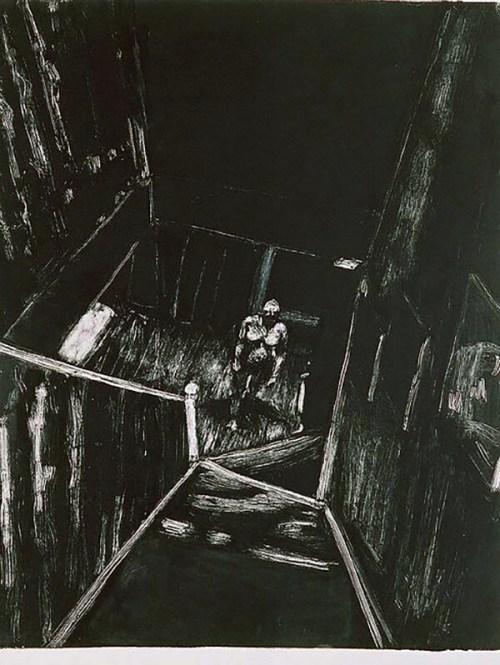 Figure in Stairwell 14