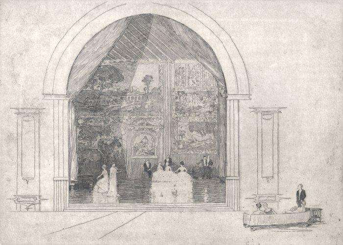 Sir-Arthur-Streeton-The-Concert-(Ballroom),-Bamburgh-Castle