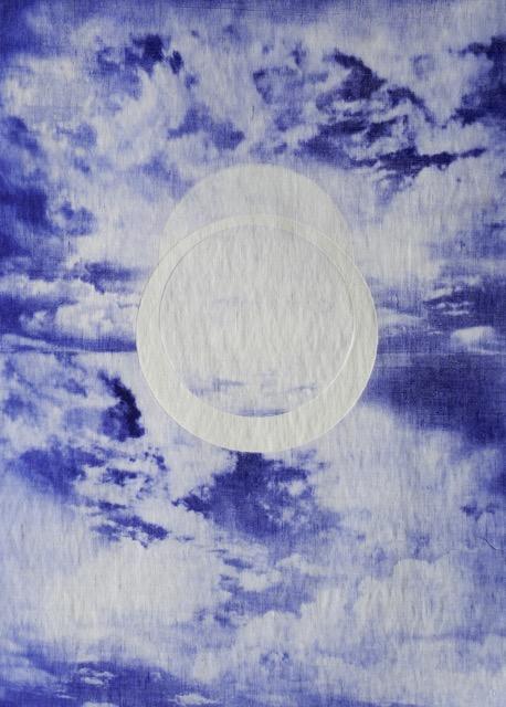 Anita Iacovella Cyclic cloud II_photogravure on linen_2018