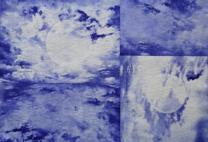 Anita Iacovella Shibori Cloud_monoprint on linen_2018