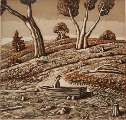 David-Frazer-the-slow-boat-2015-etching-24.5x25