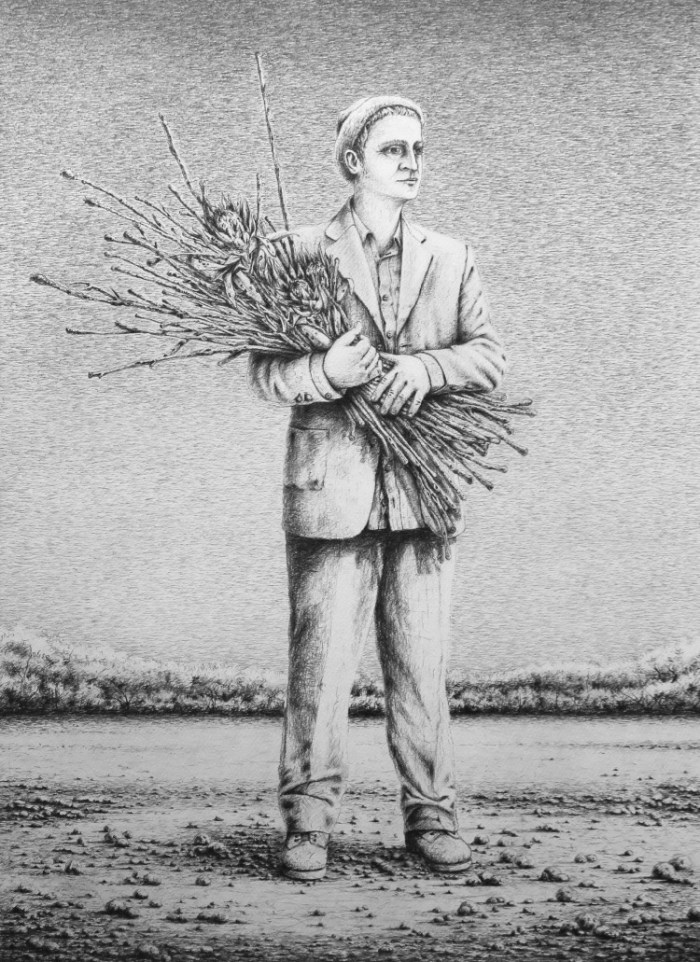 Antonio Balletta Waiting-graphite pencil on fabriano- 54cmx74cml.jpg