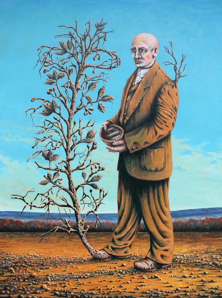 Antonio Balletta 20_Apparition of the traveler - Oil on canvas - 122cm x 91.5cm - 2012