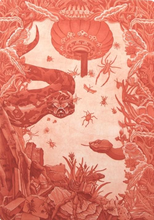 Hyun Ju Kim China gate 2018 etching& aquatint
