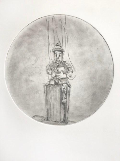 Soula Mantalvanos Pinocchio reading soft ground