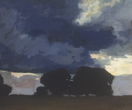 David Moore Evening Clouds Gouache on paper 30cmx38cm $1800 2