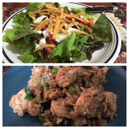 Day 21: salad and sesame chicken