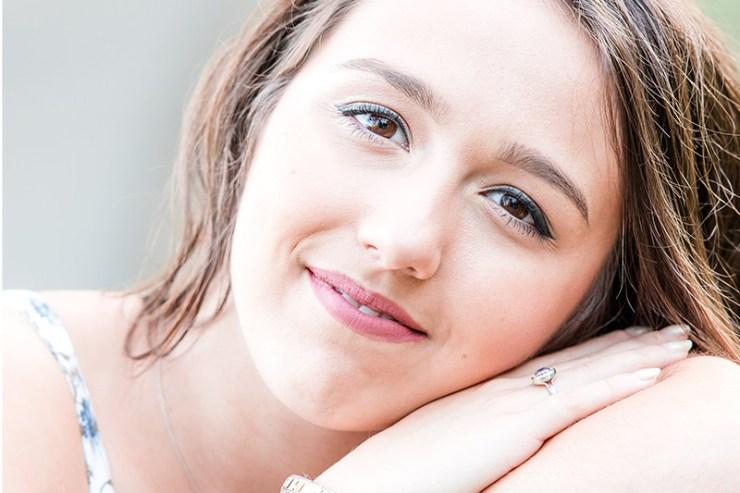 beautiful girl's senior portraits yearbook photo in Benson Park Q Hegarty Photography photographer Hudson, NH