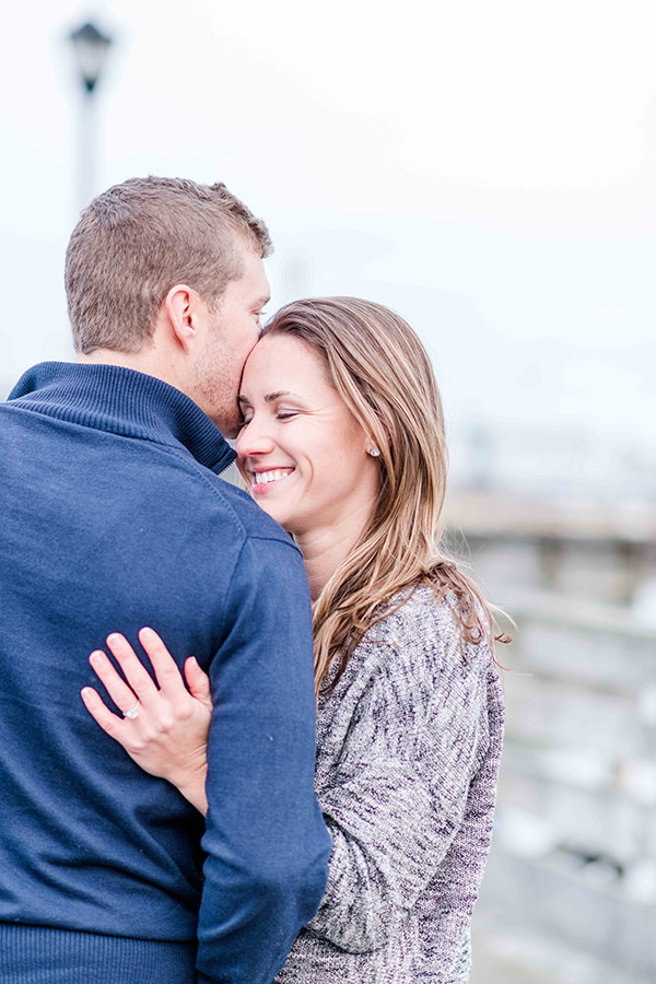 engagement photos on the dock at popular Prescott Park Q Hegarty Photography wedding photographer Portsmouth, NH