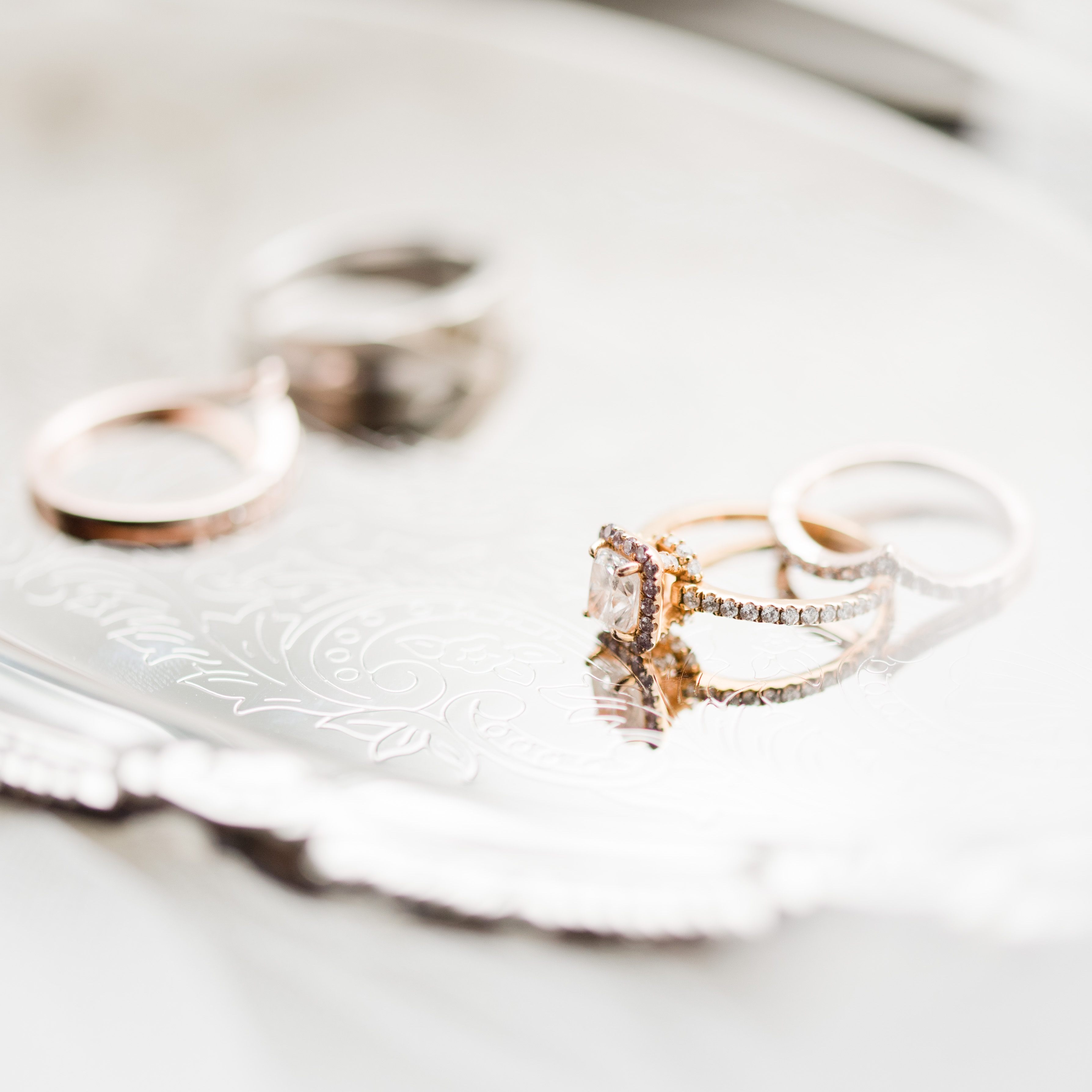 rose gold engagement ring, engagement ring, rose gold ring set, Boston photographer, wedding photography, MA wedding photographer, Gorton wedding photographer near Gibbet Hill