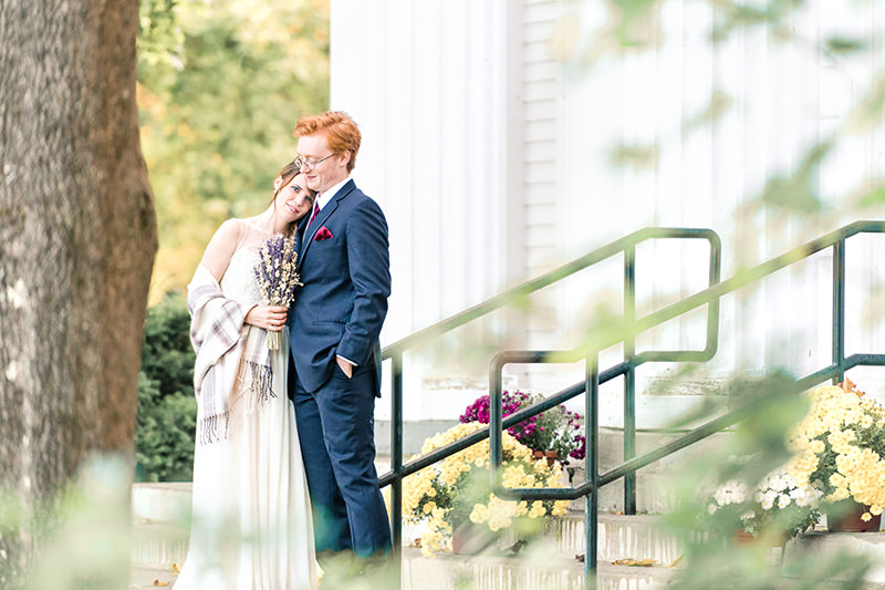 New England fall wedding in Hampstead, NH Q Hegarty Photography photographer near Granite Rose