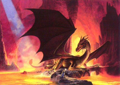 Lulu, the fire-breathing dragon pet of Abu Tanjara, Oracle of Mashmoushi