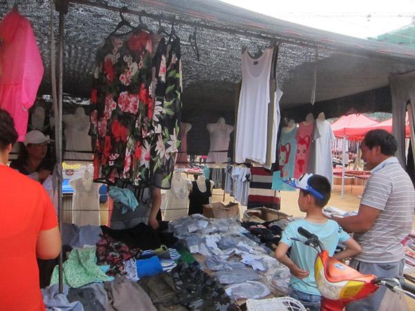 Haiyang veggie market Qingdao China