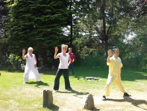 Taiji Mother Form in the stone Bagua circle