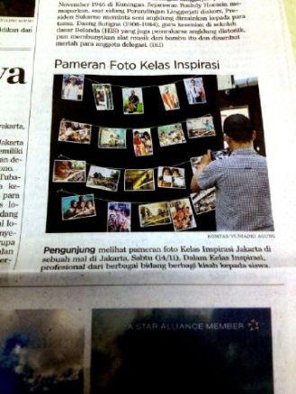 Salah satu foto karyaku yang dicetak oleh panitia (Baris ke-3, kolom ke-1) juga masuk koran kompas
