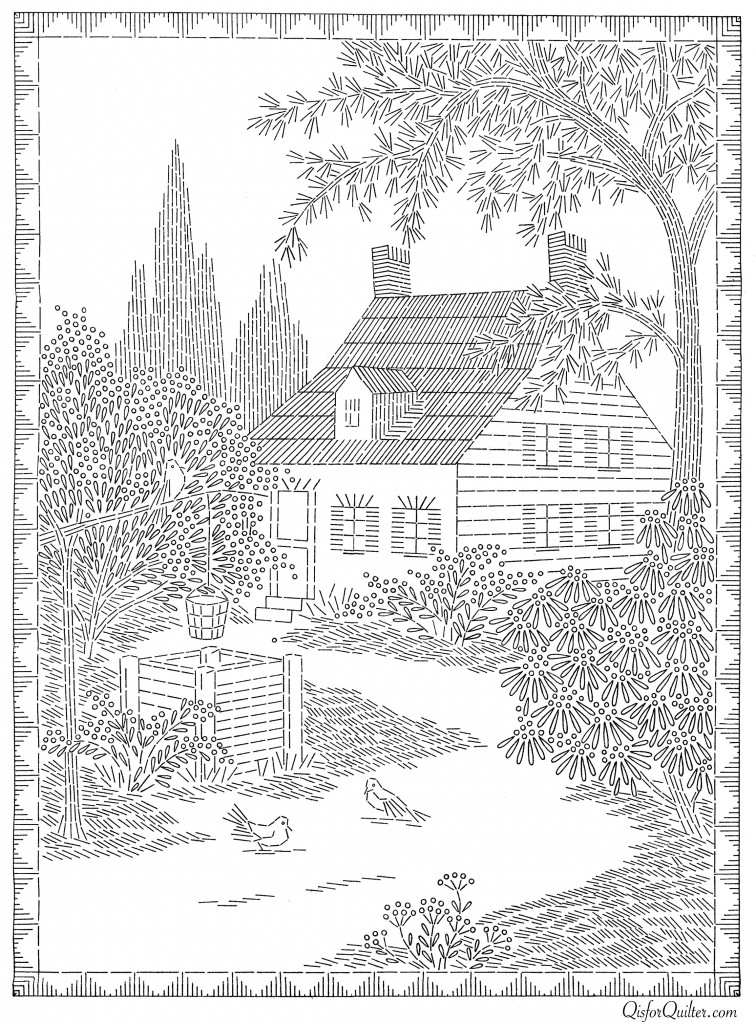 American Weekly Transfer 3160 Cottage 2 Q Is For Quilter