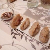 Dumplings de pollo asado