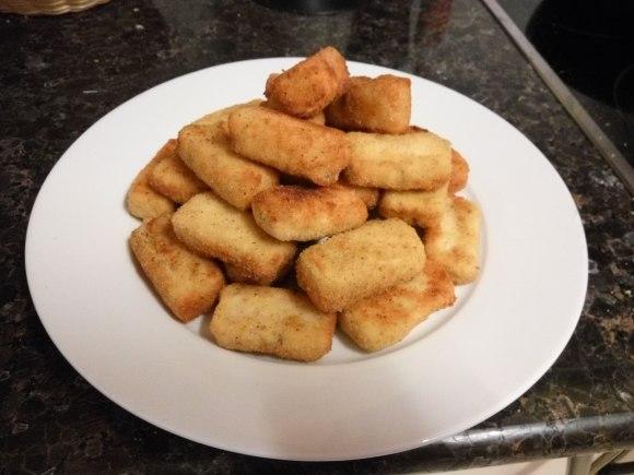 Croquetas de pollo y champiñones