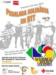 Pedalada solidària en BTT 2013