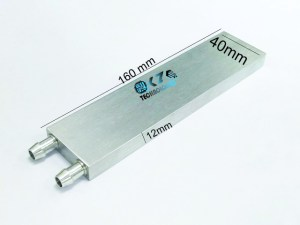 Aluminum water cooling block 40*160*12mm in Lahore, Pakistan