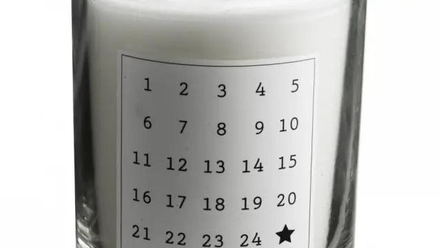 Anderledes kalenderlys med duft af gran