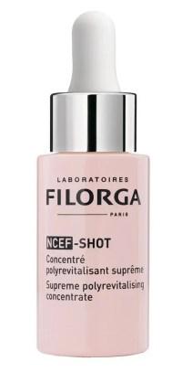 Filorga NCEF-Shot bruges som en kur, en intensiv skønhedsbehandling, som du klart vil opleve giver en forbedring på fugtniveau, glathed og udstråling.