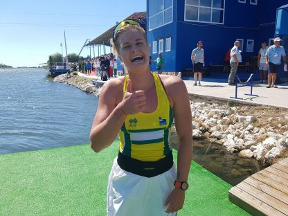 Alyssa Bull wins U23 K1 1000 Canoe Sprint world title