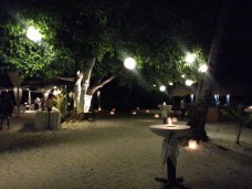 Guests were led to Entalula Beach Club via boat transfer for cocktails, dinner reception, and party!