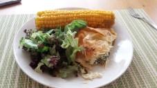 Crispy Greek-style feta spinach pie