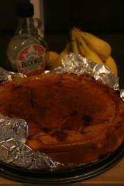 Sticky banana & maple cake