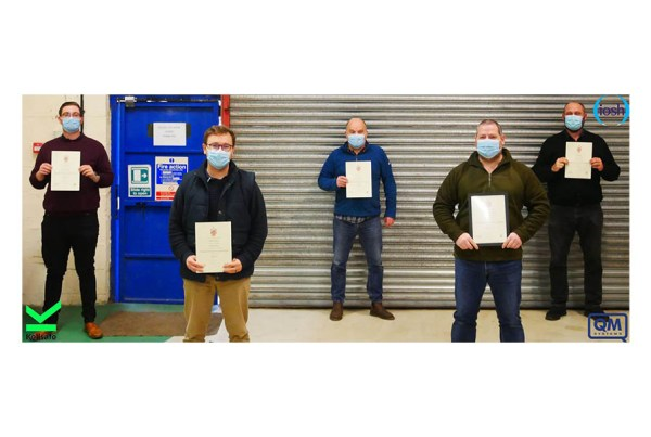 Congratulations to our staff for receiving their IOSH certificate in Working Safely
