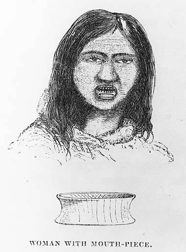 Tlingit Woman with Labret, Yakutat 1837