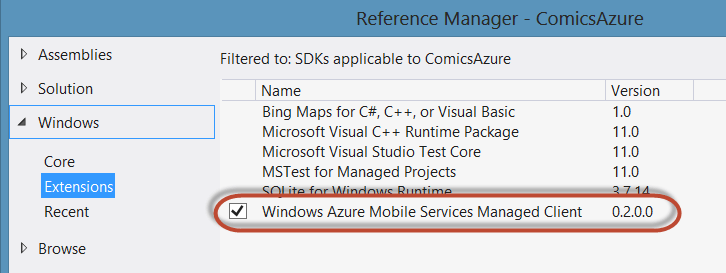 Having fun with Azure Mobile Services – Integrating with Windows 8