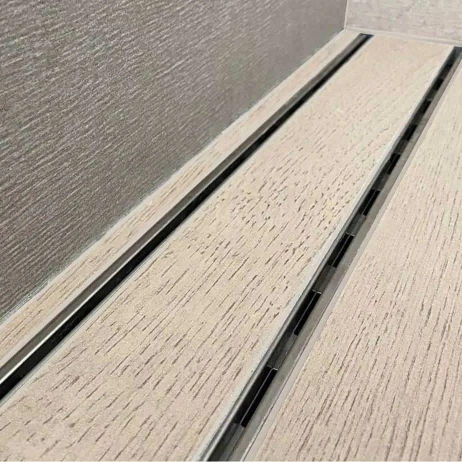 mist tile in adjustable lagos linear drain