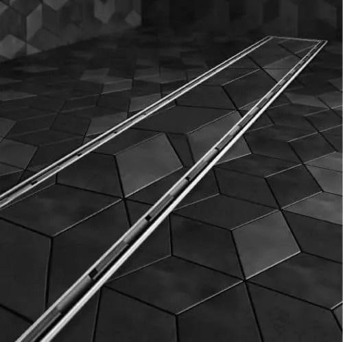 mist tile in linear drain