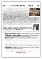 Fairtrade newsletter Dec 2017