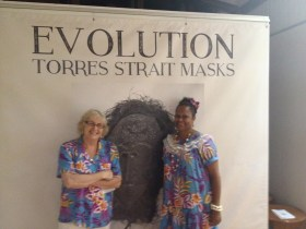 Bronwyn Jewell and Leitha Assan, Gab Titui Staff. Photo: Jo Wills