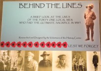 "Cooktown History Centre's self funded First World War exhibition,"" Behind the Lines."" Photo: Jo Wills."