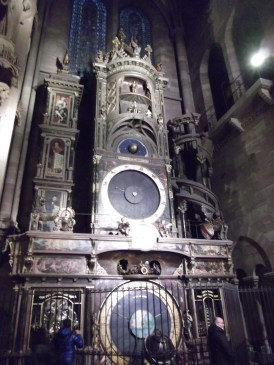 The amazing clock in the cathedral that tells you phases relative positions of the sun and moon and what to have for breakfast tomorrow. (One of these isn't true).