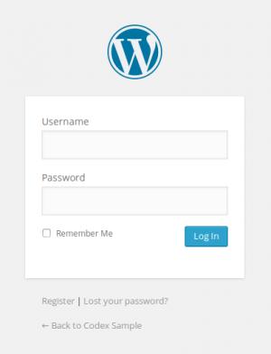 Giao diện đăng nhập trang quản trị web WordPress
