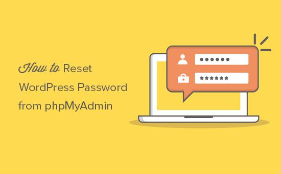 Đặt lạimật khẩuadmin trong phpmyadmin đơn giản nhanh chóng