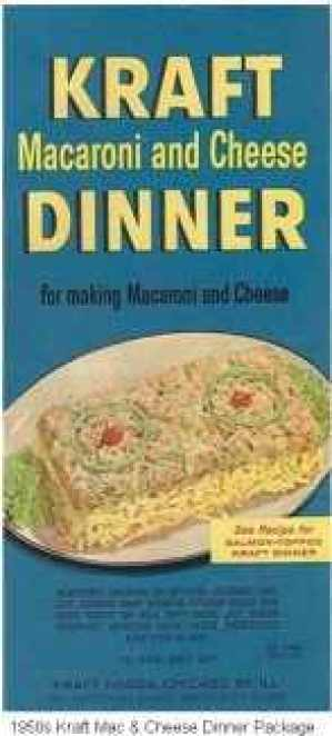 Kraft Macaroni and Cheese Box Dinner, 1937. Source: Kraft Foods Group