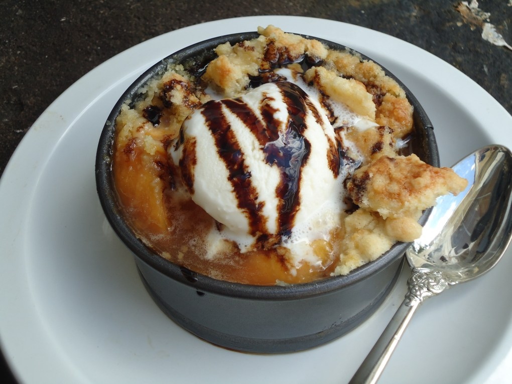 Roasted Peach Cobbler